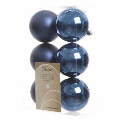 12-delige kerstballen set blauw