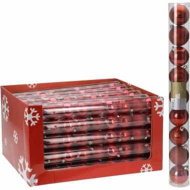 18-delige kerstballen set rood