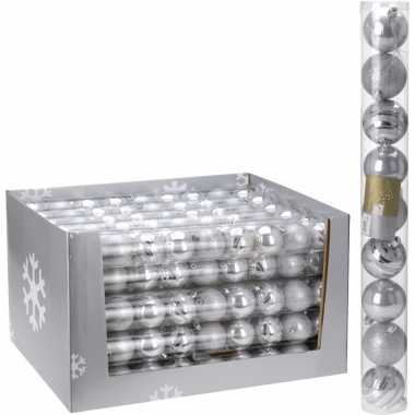 18-delige kerstballen set zilver