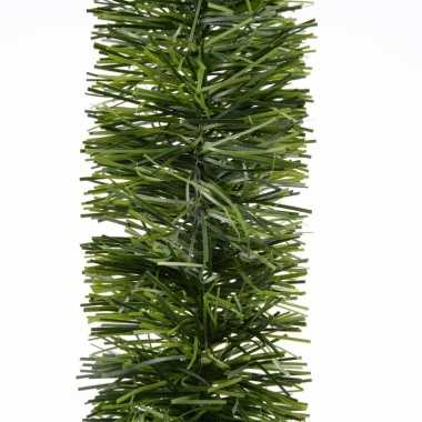 1x kerst lametta guirlandes groen 270 cm kerstboom versiering/decoratie