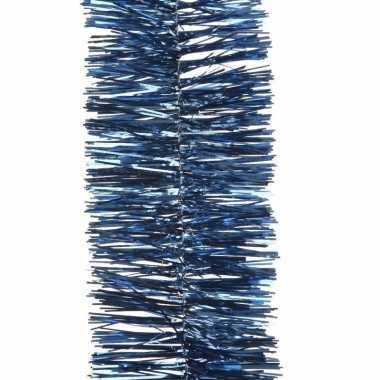 2x blauwe kerstboomslinger 270 cm