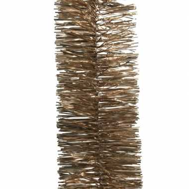 2x bruine kerstboom folie slinger 270 cm