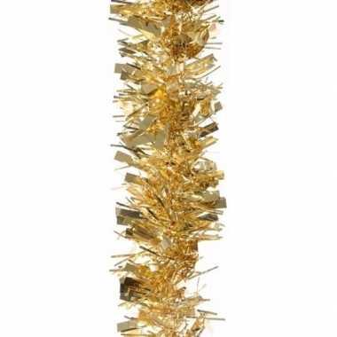 2x gouden kerstboomslinger 200 cm