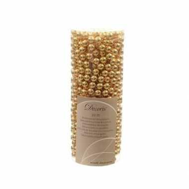 2x kerstboom decoratie kralenslinger goud