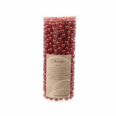 2x kerstboom decoratie kralenslinger rood