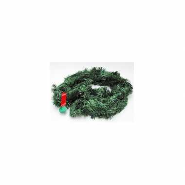 2x kerstslingers dennengroen 5 m
