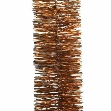 2x koper bruine kerstboom folie slinger 270 cm