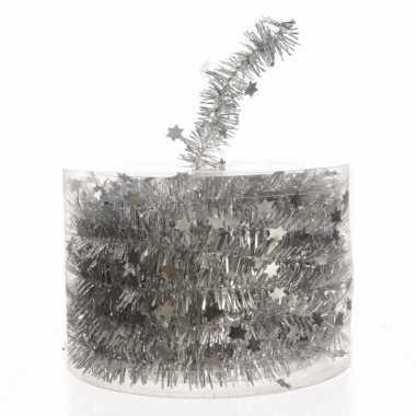 2x zilveren kerstboomslinger 700 cm
