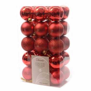 30-delige kerstballen set rood