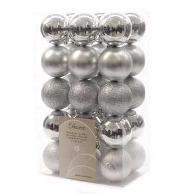 30-delige kerstballen set zilver