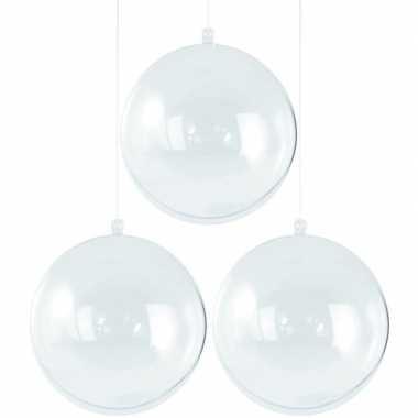 3x kerstballen om te vullen 5 cm