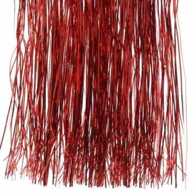 3x kerstversiering folie engelenhaar rood
