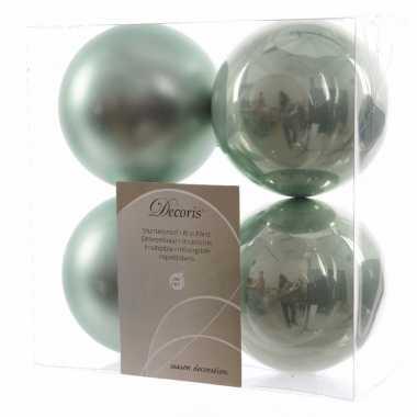 4-delige kerstballen set mint groen