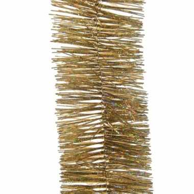 4x kerst lametta guirlandes goud glitters/glinsterend 7,4 x 270 cm ke