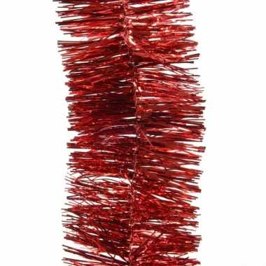 5x kerst lametta guirlandes kerst rood 7 x 270 cm kerstboom versierin
