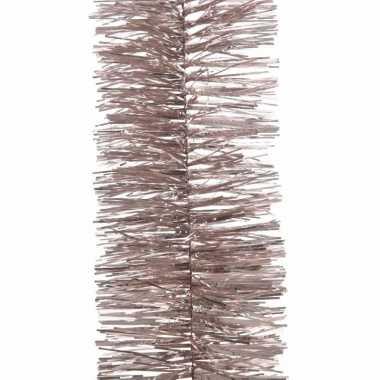5x kerst lametta guirlandes lichtroze 7 x 270 cm kerstboom versiering