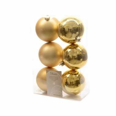 6-delige kerstballen set goud
