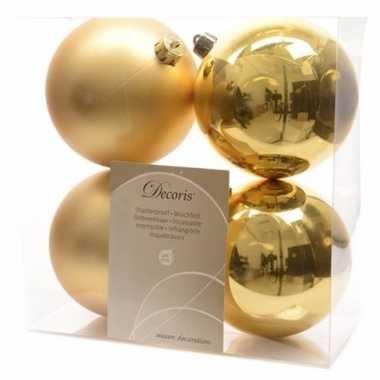 8-delige kerstballen set 10 cm goud