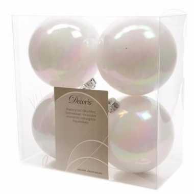 8-delige kerstballen set 10 cm wit