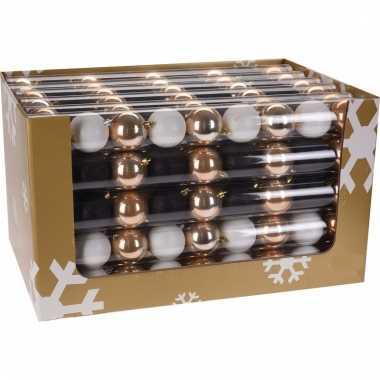 9-delige kerstballen set zwart/goud