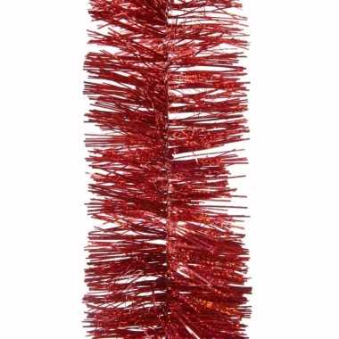 Ambiance christmas kerstboom decoratie glitter slinger rood 270 cm