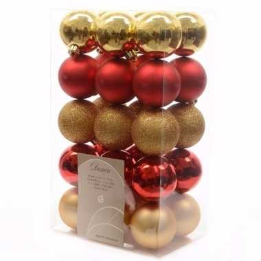 Ambiance christmas kerstboom decoratie kerstballen 30 stuks