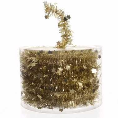 Ambiance christmas kerstboom decoratie sterren slinger goud 700 cm