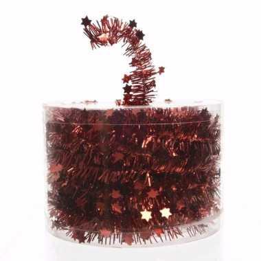 Ambiance christmas kerstboom decoratie sterren slinger rood 700 cm