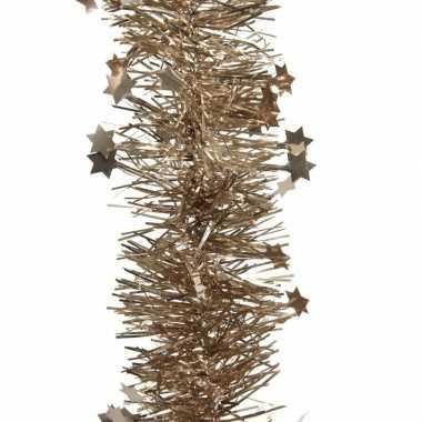 Bruine kerstboom folie slinger met ster 270 cm