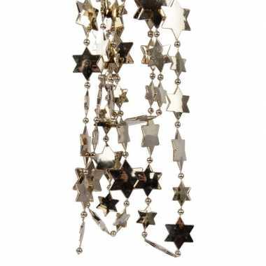 Bruine kerstboom sterren kralenketting 270 cm