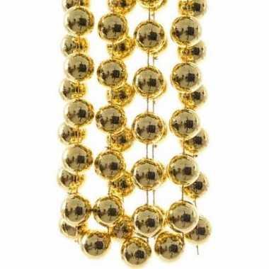 Christmas gold kerstboom decoratie kralenslinger xxl goud 270 cm