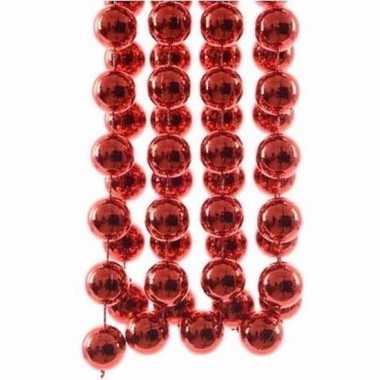 Christmas red kerstboom decoratie kralenslinger xxl rood 270 cm