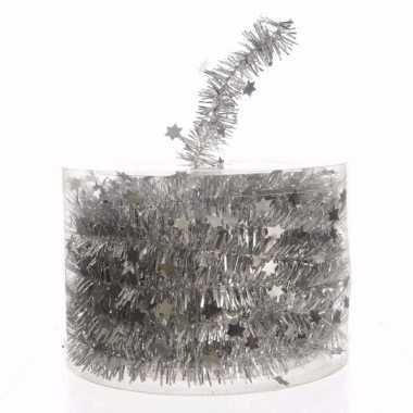 Christmas silver kerstboom decoratie sterren slinger zilver 700 cm
