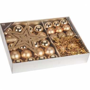 Classic gold kerstboomdecoratie 33 delig goud