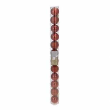 Classic red kerstballen set plastic 12 stuks