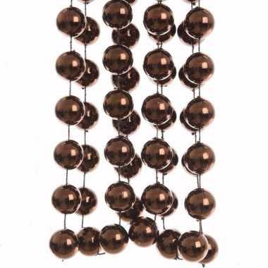 Cosy christmas kerstboom decoratie kralenslinger xxl bruin 270 cm