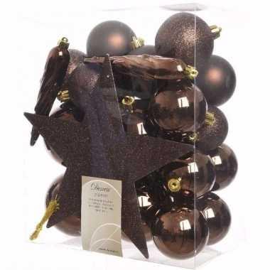 Cosy christmas kerstboom decoratie set 33-delig