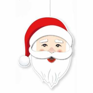 Deco kerstmannen hoofd 28 cm