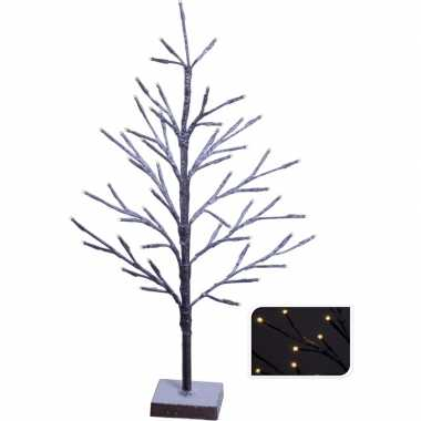Decoratieve kunst kerstboom warm wit 51 led 50 cm