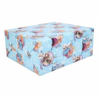 Disney frozen kerstkado inpakpapier 1 rol 70 x 200 cm