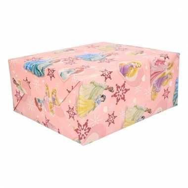 Disney princessen kerst kado inpakpapier 1 rol 70 x 200 cm