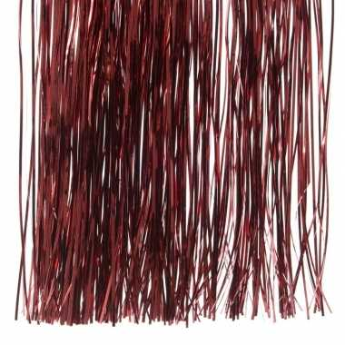 Donker rode kerstboom versiering lametta slierten