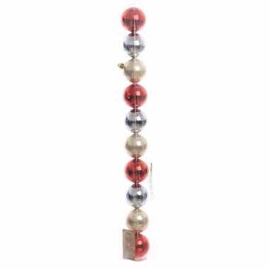 Elegant christmas kerstboom decoratie glimmende kerstballen 10 stuks