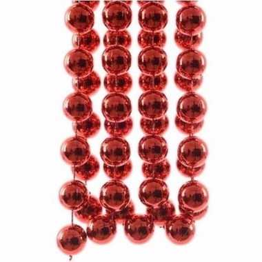 Elegant christmas kerstboom decoratie kralenslinger xxl rood 270 cm
