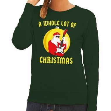 Foute feest kerst sweater groen a whole lot of christmas voor dames