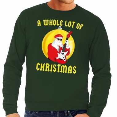 Foute feest kerst sweater groen a whole lot of christmas voor heren