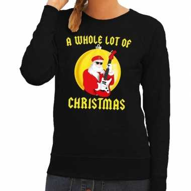 Foute feest kerst sweater zwart a whole lot of christmas voor dames