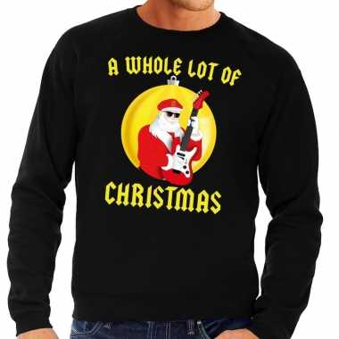 Foute feest kerst sweater zwart a whole lot of christmas voor heren