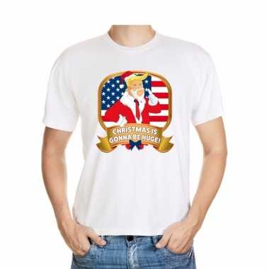 Foute kerst shirt donald trump wit christmas is gonna be huge voor he