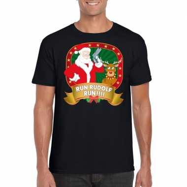Foute kerst shirt run rudolf heren